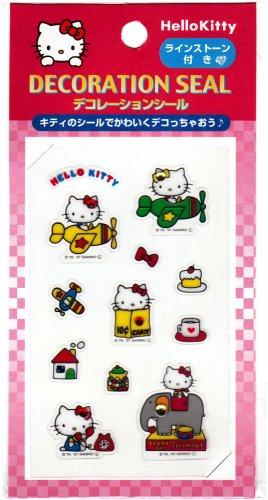 Sanrio License Japan Hello Kitty Decoration Seal Sticker Sheet (C) Kawaii