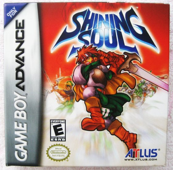 Game Boy Advance GBA Shining Soul RPG Video Game by Atlus