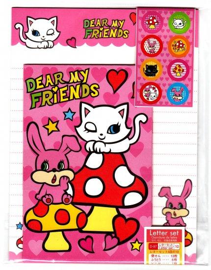 Daiso Japan Dear My Friends Letter Set with Stickers Kawaii