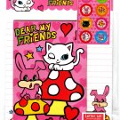 Daiso Japan Dear My Friends Letter Set with Stickers Kawaii