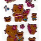 Sanrio Japan Hello Kitty Summertime Puffy Sticker Sheet Kawaii