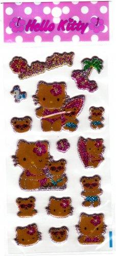 Sanrio Japan Hello Kitty Summertime Puffy Sticker Sheet Kawaii