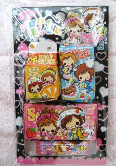 Crux Japan Happy Charm Box Erasers Set
