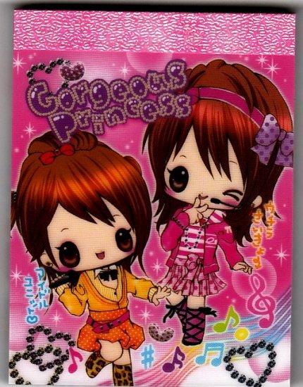 Kamio Japan Gorgeous Princess Mini Memo Pad Kawaii