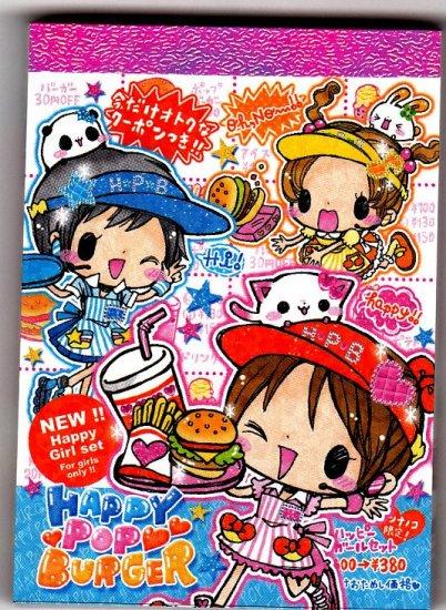 Crux Japan Happy Pop Burger Mini Memo Pad Kawaii