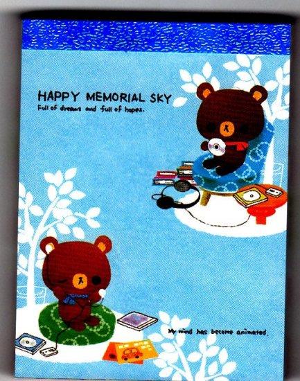 Kamio Japan Happy Memorial Sky Mini Memo Pad Kawaii