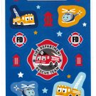Sanrio Japan Fire Department Rescue Team Sticker Sheet 2004 Rare Kawaii