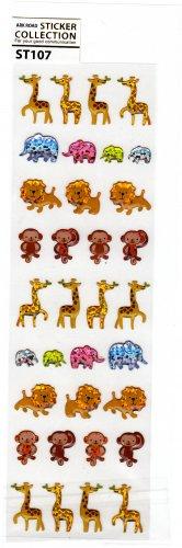 Ark Road Japan Zoo Animals Sticker Sheet Kawaii