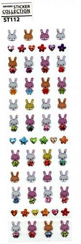 Ark Road Japan Rabbits Sticker Sheet (B) Kawaii