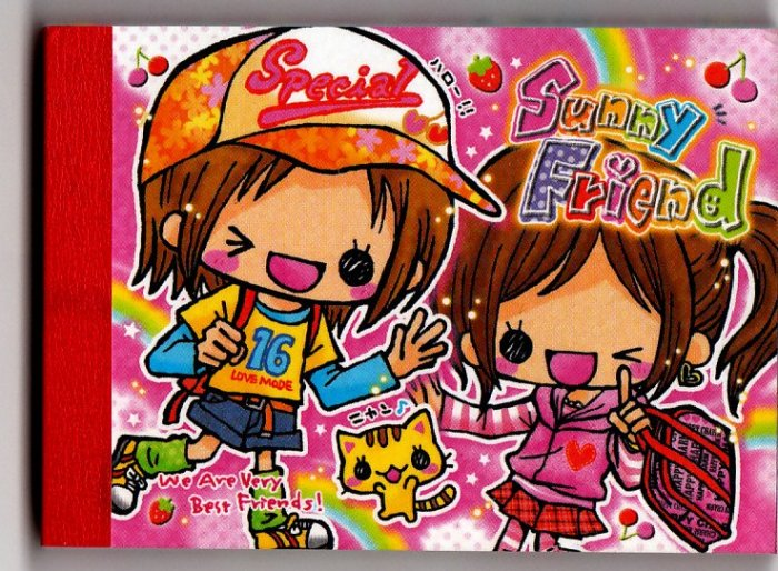 Crux Japan Sunday Friend Mini Memo Pad Kawaii