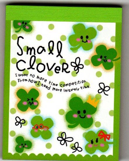 Q-Lia Japan Small Clover Mini Memo Pad Kawaii