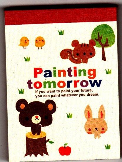 Crux Japan Painting Tomorrow Mini Memo Pad (A) Kawaii