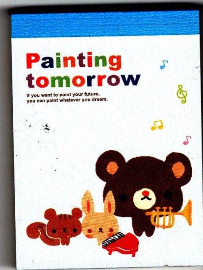 Crux Japan Painting Tomorrow Mini Memo Pad (B) Kawaii
