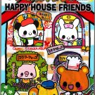Kamio Japan Happy House Friends Memo Pad with Stickers Kawaii