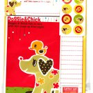 Daiso Japan Doggie & Chick Letter Set with Stickers Kawaii