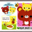 Kamio Japan Bear Bear Life Mini Memo Pad Kawaii