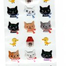 Ark Road Japan Cat Faces Sticker Sheet Kawaii