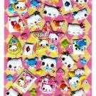 Crux Japan Nyan Nyan Love x Happy Puffy Sticker Sheet Kawaii