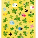 Q-Lia Japan Washi Paper Birds and Clover Sticker Sheet Kawaii