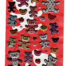 Very Berry Japan Happy Bear Puffy Sticker Sheet Kawaii