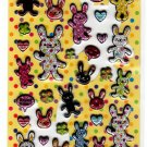 Very Berry Japan Happy Rabbit Puffy Sticker Sheet Kawaii