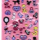 Q-Lia Japan Dressy Poodles Sticker Sheet Kawaii