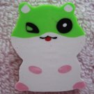 Lemon Japan Hamster Diecut Eraser (Green) Kawaii