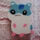 Lemon Japan Hamster Diecut Eraser (Lt Blue) Kawaii