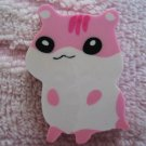 Lemon Japan Hamster Diecut Eraser (Pink) Kawaii