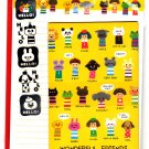 Kamio Japan Wonderful Friends Letter Set with Stickers Kawaii