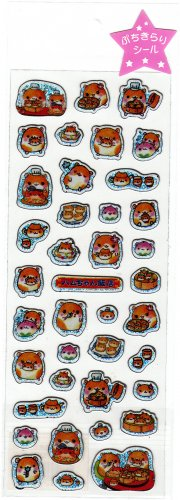 Q-Lia Japan Hamster Dim Sum Sticker Sheet Kawaii