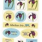 Japan Sibelian Iris Flower Sticker Sheet Kawaii