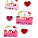 Sanrio Japan Hello Kitty Message Seal Sheet Kawaii