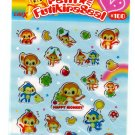 Crux Japan Petit Futikira Seal Sticker Sheet (Happy Monkey) Kawaii