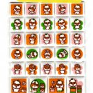 Sanrio Japan Kuririn Hamster Felt Sticker Sheet 2001 Kawaii