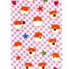 Sun Star Japan Hamu Hamu Hamuchu Hamster Sticker Sheet (B) Kawaii