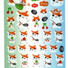 Frolic Japan Happy Hamster Sticker Sheet Kawaii