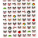 Kamio Japan Panda Faces Puffy Sticker Sheet Kawaii