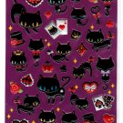 Q-Lia Japan Black Cat Sticker Sheet Kawaii