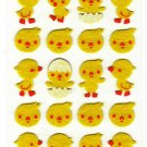 At Japan Yellow Chick Felt Sticker Sheet Kawaii