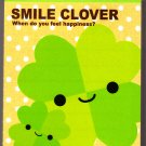 Q-Lia Japan Smile Clover Mini Memo Pad with Sticker Kawaii