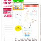 Daiso Japan Mr. Cafe Au Lait Letter Set with Stickers Kawaii