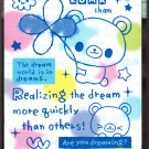 Kamio Japan Hello Bear Long Memo Pad Kawaii