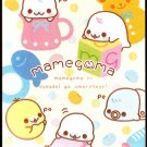 San-X Japan Mamegoma Babies Memo Pad with Stickers (Pink) Kawaii