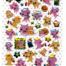 Crux Japan Three Piggies' Holiday Epoxy Sticker Sheet Kawaii