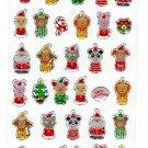 Active Japan Merry Christmas Puppets Sticker Sheet Kawaii