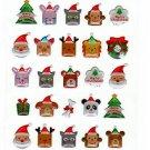 Active Japan Merry Christmas Cute Animals Epoxy Sticker Sheet Kawaii