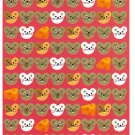 Ryu-Ryu Japan Mouse and Cheese Circle Seals Sticker Sheet Kawaii