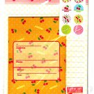 Daiso Japan Cherry Letter Set with Stickers Kawaii