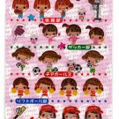 Crux Japan Hi! School Girl Club Epoxy Sticker Sheet Kawaii